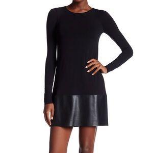 Bailey 44 Black Leather Trim Lorax Dress